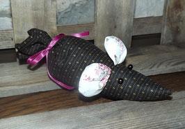Lavendel-Maus schwarz gemustert