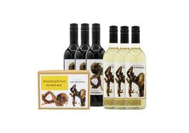 Weinköpfchen-Set: Das Wein-Quiz