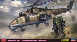 """Mi-24 HIND """"UAV"""" & Humanoid Light Tank """"GOAT UGV"""" COD: 02368"""