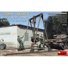 GERMAN TANKMEN WITH GANTRY CRANE & MAYBACH HL 120 ENGINE 1/35 COD: 35350