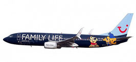 Boeing 737-800 Jetairfly OO-JAF, 'Family Life Hotels'  COD: 611145