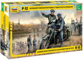 German R-12 Heavy Motorcycle with rider and officer  COD: 3632