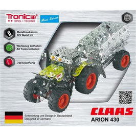 MINI TRATTORE CON RIMORCHIO CLAAS ARION 430 COD: 10011