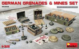 German Grenades & Mine Set  COD: 35258