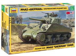 Zvezda 3702 M4A2 Sherman 75mm  COD: 3702