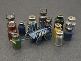 Milk Cans with Small Cart  COD: 35580