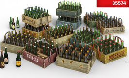 Beer bottles & Wooden Crates COD: 35574