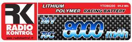 Batteria li-po 7,4v. 8000mah 70c COD: 90200