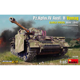 Pz.Kpfw.IV Ausf. H Vomag. EARLY PROD. MAY 1943. INTERIOR KIT COD: 35298