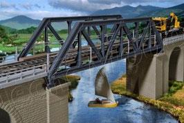 Ponte ferroviario corto con travata in acciaio COD: 39701