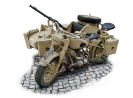German Military Motorcycle with side car COD: 7403