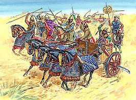 Persian chariot and cavalry IV B. C. COD: 8008