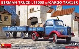GERMAN TRUCK L1500S w/CARGO TRAILER COD: 38023