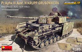 Pz.Kpfw.IV Ausf. H KRUPP-GRUSONWERK. MID PROD. AUG-SEP 1943. INTERIOR KIT COD: 35330