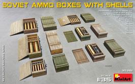 Soviet Ammo boxes w/shells COD: 35261