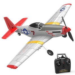 Mini Mustang P51D - 4CH Beginner Airplane with Xpilot Stabilizer / One-key Aerobatic COD: 76105R