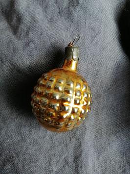 B520 oude kerstbal lampion brons, hoogte 5,5 cm