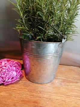 Leuke emmers van zink, voor planten, kleurstiften, keukengerei etc., afmetingen 26 x 18 cm, prijs per stuk