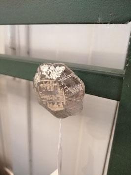 knop transparant goud gepatineerd, 4 cm, prijs per stuk.