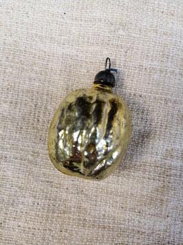 B612 oude kerstbal goud walnoot hoogte 5 cm