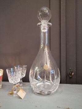 Chique likeur karaf van loodkristal, hoogte 33 cm