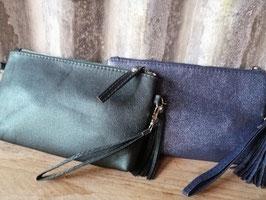 Leuke metallic tas met handhengsel en schouderhengsel, afmetingen 33 x 13 cm prijs per stuk