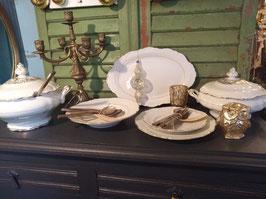Prachtig wit met goud servies van Bavaria porselein, diverse delen!!!