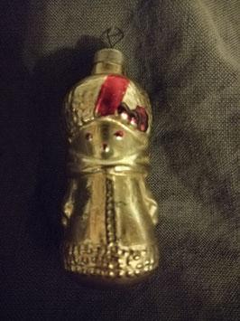 B427 oude kerstbal kerstvrouw, hoogte 7,5 cm