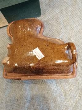 Mooi brocante broodlam van aardewerk, afmetingen 15 x 13 cm