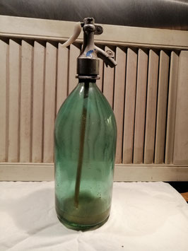 Oude spuitwaterfles 4 zeegroen