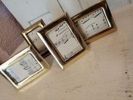 Brocante fotolijst messing rechthoek, 7, 5 x 5,5 cm, prijs per stuk