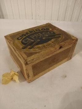 Oud houten sigaren doosje Cigarillos, afmetingen 5 x 11 x 9 cm