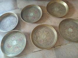 Set van 6 mooie onderzetters, diameter 7,5 cm
