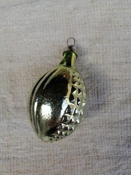 B615 oude kerstbal groen lampion, hoogte 7,5 cm