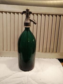 Oude spuitwaterfles 6 donker petrol blauw