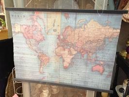 Mooie wereldkaart op linnen, afmetingen 105 x 75 cm, prijs per stuk