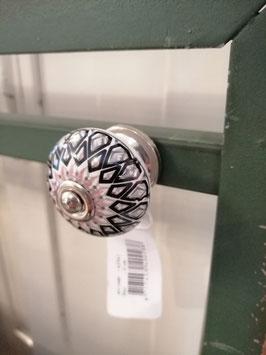 knop wit zwart grijs roze, 4 cm, prijs per stuk.