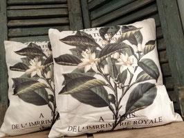 Mooie botanische kussenhoes, afmetingen 43 x 43 cm, prijs per stuk