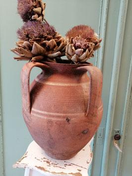 Grote antieke pot nr 10 afmetingen 29 x 24 cm 34 cm met gaatje bij het oor