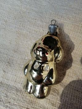 B576 oude kerstbal hond cocker spaniel, hoogte 7,5 cm