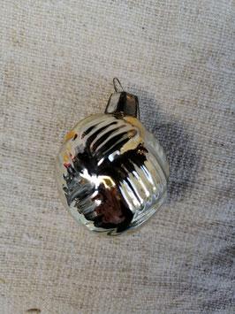 B632 oude kerstbal brons gevlochten bal, hoogte 5 cm