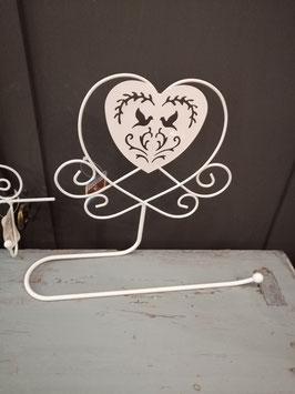 Leuk metalen rek als toiletrolhouder of handdoekrek, afmetingen 23 x 27 cm, prijs per stuk