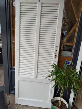 Prachtige oude stevige louvredeur, afmetingen 180 x 70 cm