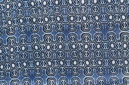 Baumwollsatin Indigo-Stil blau gemustert