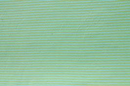 Jersey-Stoff apfelgrün türkis gestreift