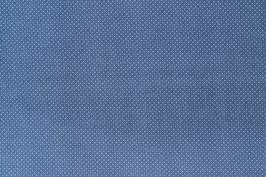 Baumwoll Popelin Tupfen Dots Punkte blau crème
