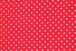 Baumwoll Tupfen Dots Punkte rot weiß