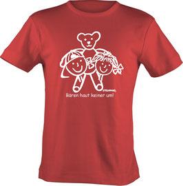 T-Shirt, unisex, Strichpunkt Bären haut keiner um,  Aufdruck vorne