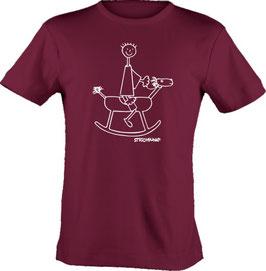 T-Shirt, unisex, Strichpunkt-Schaukelpferd,  Aufdruck vorne