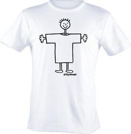 T-Shirt Kids, Strichpunkt-Männchen,  Aufdruck vorne